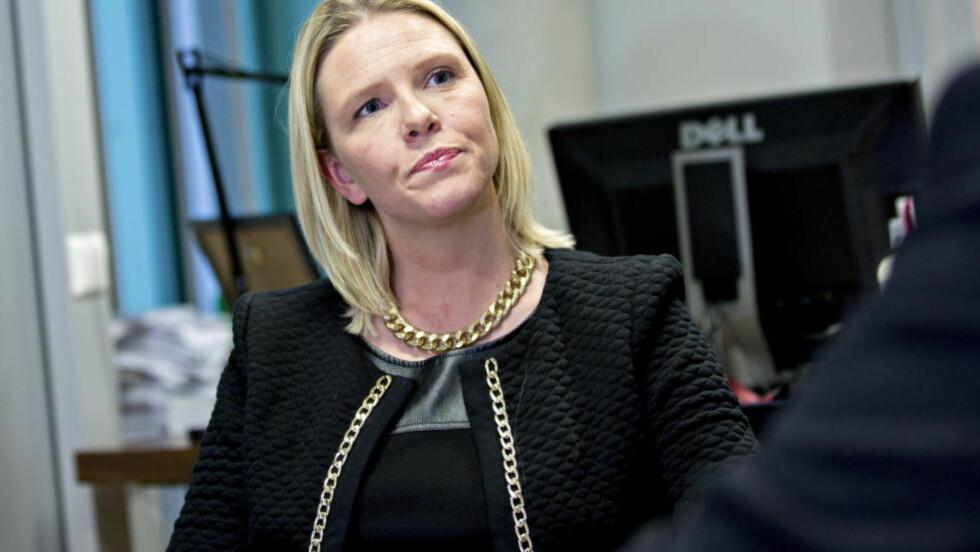 VIL HA SVINEKJØTT:Landbruksminister Sylvi Listhaug (Frp) vil ha svinekjøtt i offentlige institusjoner. Foto: Torbjørn Berg / Dagbladet
