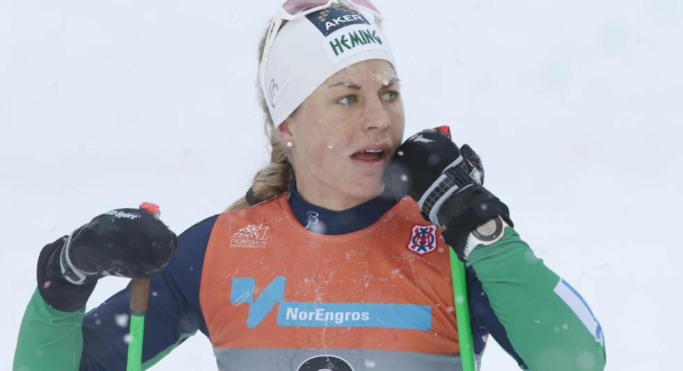 MISTET BROREN: Langrennsløpere Astrid Uhrenhold Jacobsen fikk i dag beskjed om at broren har mistet livet. Foto: Terje Bendiksby / NTB scanpix