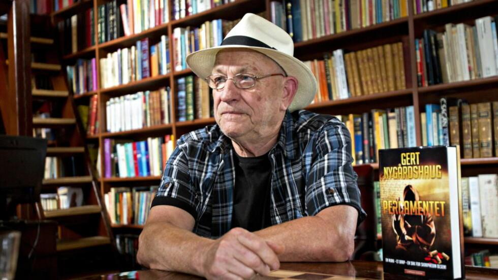 <strong>SIER ADJØ:</strong> Forfatter Gert Nygårdshaug (67) sparer ikke på kritikken mot sitt gamle forlag når han nå forlater det og går til Juritzen forlag. Foto: Torbjørn Berg / Dagbladet