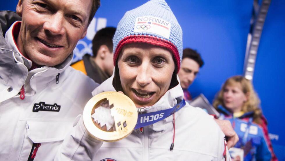 HENTET TO GULL: Marit Bjørgen har stått bak to av Norges fangst på 10 gull. Men det er samtlige medaljer som skal styre vinneren på statistikken, mener amerikanske medier. Foto: HÅKON EIKESDAL / DAGBLADET