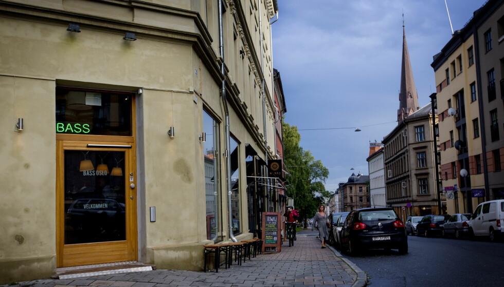 ØVRE GRÜNERLØKKA: Bass troner nesten på toppen av Thorvald Meyers gate. Foto: Anita Arntzen / Dagbladet