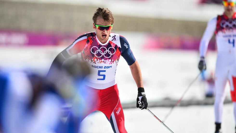 18. plass: Heller ikke femmila ble som Petter Northug håpet. Foto: Thomas Rasmus Skaug.