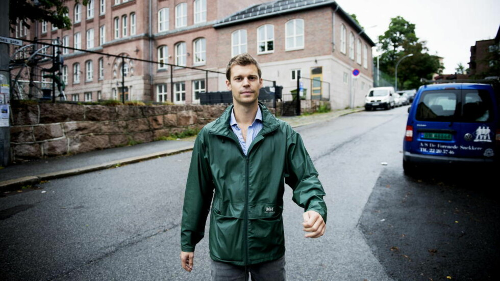 FORBUD: Leder for partiet Rødt, Bjørnar Moxnes, ønsker et forbud mot kabotasjekjøring. Foto: Øistein Norum Monsen/DAGBLADET.