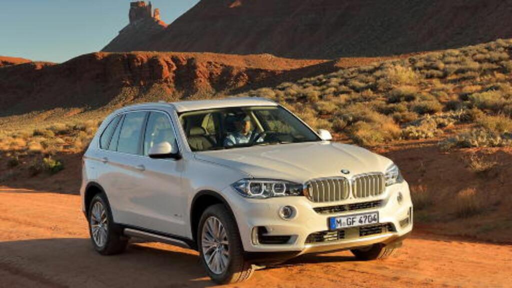 I SITT RETTE ELEMENT: BMW X5 trives i ørkenlandskap. Foto: BMW