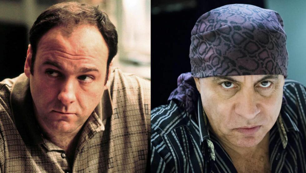GAMLE KJENTE:: Steven Van Zandt hadde fått ja fra James Gandolfini til å stille opp som Tony Soprano i en drømmesekvens i «Lilyhammer»-slik gikk det imidlertid ikke. Foto: NTB Scanpix