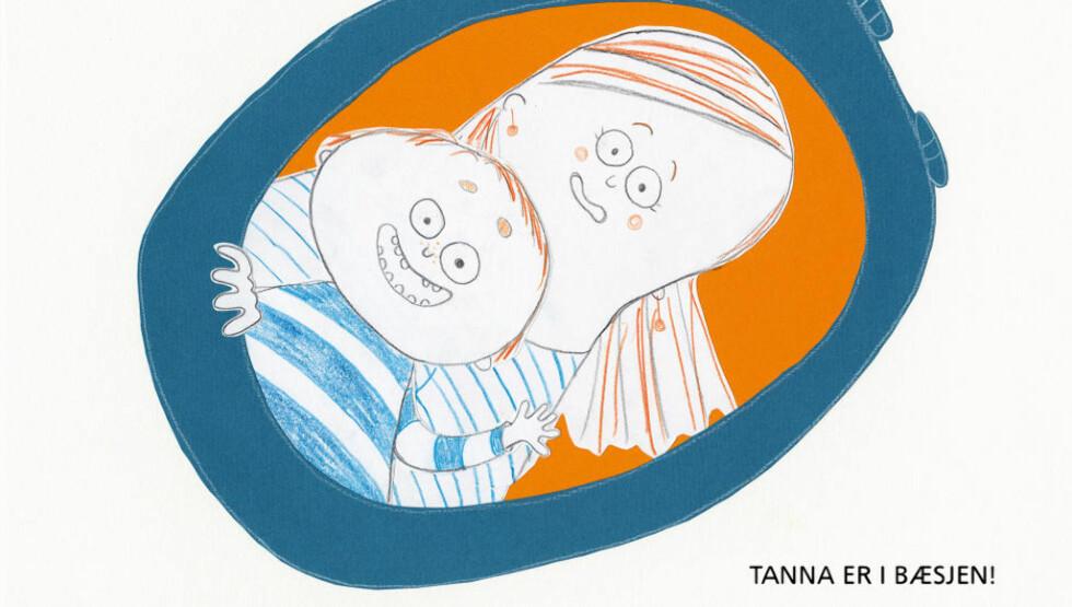 LØS TANN: Camilla Kuhns bildebok «Løs tann» følger med gratis når du laster ned den nye samleappen for lesetreningsbøker, «Løveunge». Illustrasjon fra appen.