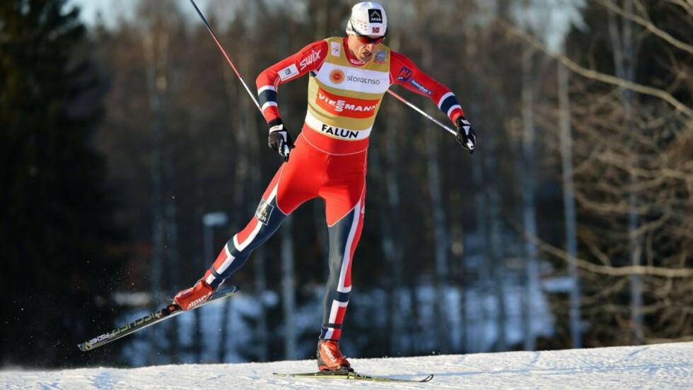 I DJEVELENS HULE:  Petter Northug hadde nok blitt ekstremt motivert om han kunne vinne OL-medaljer i Sverige. Bare Norge hadde nok vært bedre for Northug. Foto: Anders Wiklund / NTB Scanpix