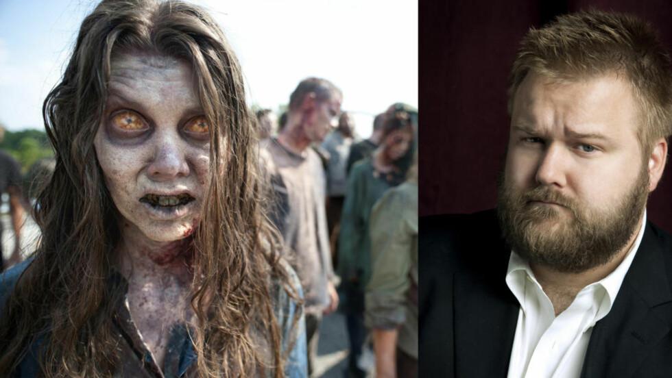 EKSORSISME: Robert Kirkman står bak suksessen «The Walking Dead». Nå er han i gang med et nytt tegneserieprosjekt som tar for seg blant annet demonbesettelse. Tegneserien, som har fått navnet «Outcast», skal også bli TV-serie. Foto: Scanpix