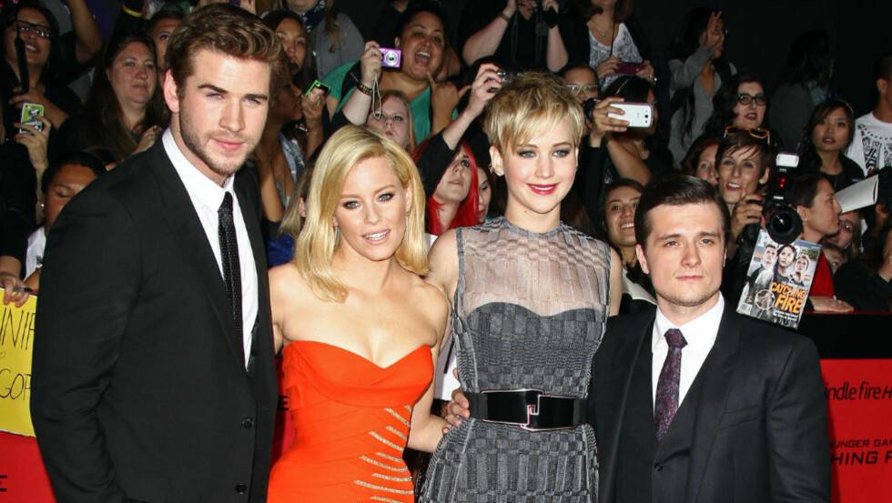 PREMIERE: Skuespillerene i den nye «Hunger Games» strålte på gårsdagen premiere . Foto:Stella Pictures