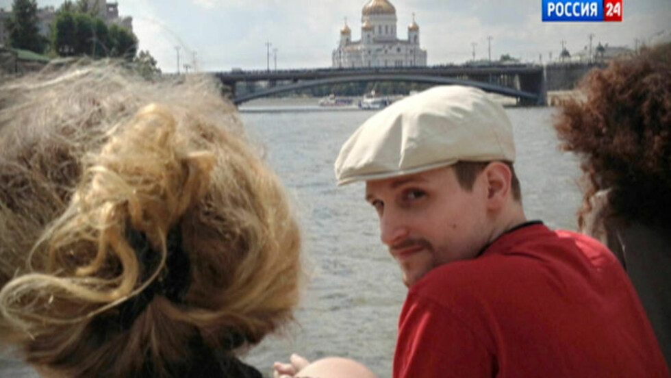 EDWARD SNOWDEN: A video frame grab provided by LifeNews via Rossia 24 TV channel, from Moscow, where Snowden (30) is currently in asylum. The former National Security Agency systems analyst looks over his shoulder during a boat trip on the Moscow River in Moscow, with the Christ the Savior Cathedral in the background.  Photo: LifeNews/AP