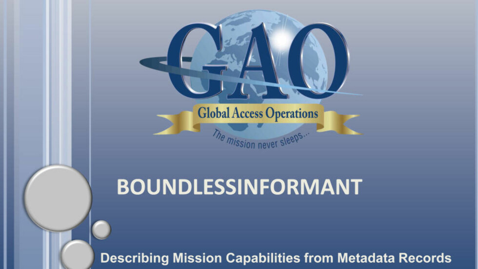 THE MISSION THAT NEVER SLEEPS: In this NSA-document the agency describes how it collects data against countries. Screenshot: Power Point-presentation of NSA´s GAO-program