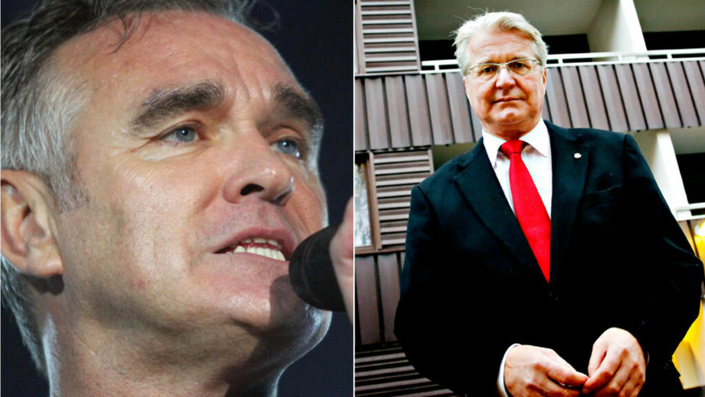 TIL NOBEL MEN IKKE TIL STANG:  Steven  Morrissey kommer til Norge for å opptre under Nobelkonserten. Han er ikke velkommen på kontoret til Stang. Foto: NTB scanpix / Jacques Hvistendahl / Dagbladet