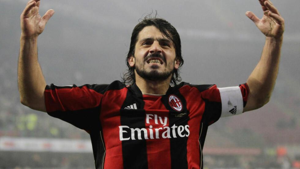 KONTROVERSIELL: Gennaro Gattuso var en kontroversiell figur på fotballbanen, men også etter endt karriere fortsetter han å provosere. Foto: AP Photo/Luca Bruno