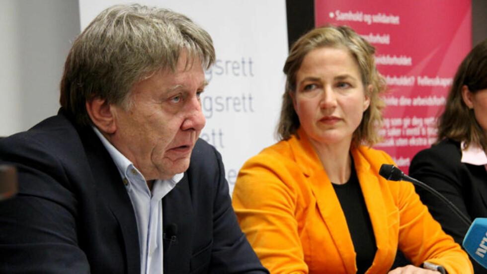 VUNNET:  Henning Haug, leder av Offshoredykkerunionen (ODU), på dagens pressekonferanse i Oslo. - Vi er overlykkelige, sier han til Dagbladet.  Foto: Svein Dybdahl / Dagbladet
