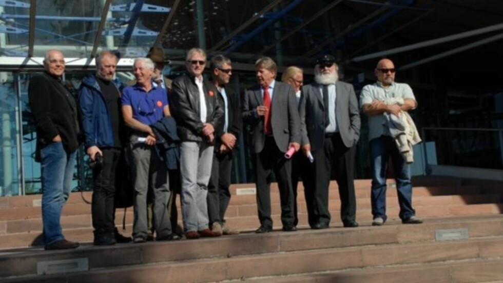 STRASBOURG: Nordsjødykkerne brakte saken sin inn for menneskerettsdomstolen. I fjor høst var de til stede under høringen i Strasbourg. Foto: Privat