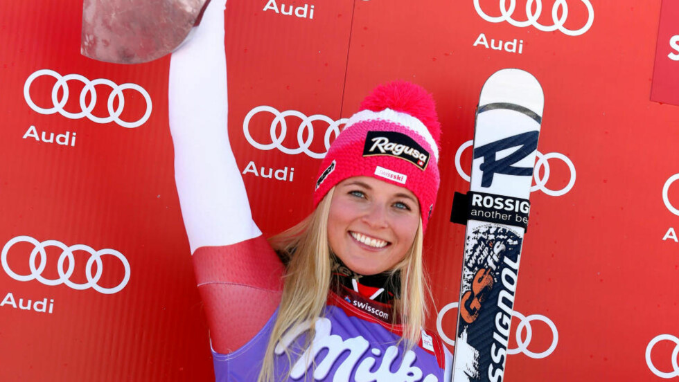VIL BLI TATT PÅ ALVOR: 22 år gamle Lara Gut har sett seg lei på at hun bare får omtale for sitt utseende, og ikke for det hun presterer i alpinbakkene. Foto: AP Photo/Marco Trovati