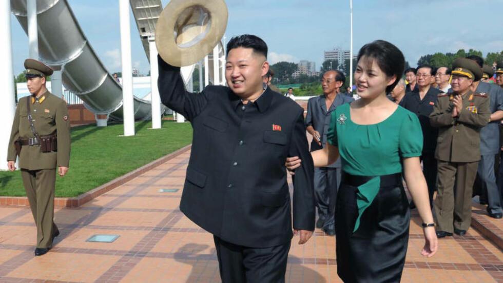 ALT ANNET ENN HARMLØS: Heller ikke Kims unge kone, Ri Sol-ju, skal være like uskyldig og harmløs som hun kan gi uttrykk for under sine offisielle opptredner. Hun skal også ha blitt introdusert for Kim av ingen andre enn hans tante. Foto: REUTERS/KCNA/Files