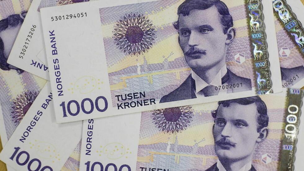 STOR ØKNING: Neste år vil norske lønninger i snitt stige med nesten 18 000 kroner. Dagbladet har funnet ut hvor mye du bør tjene. Foto: BJØRN LANGSEM