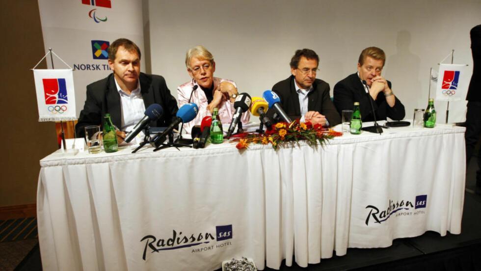 IDRETTSSTYRET SA NEI: Her har Idrettsstyret akkurat sagt nei til å søke om statsgaranti til OL i Tromsø 2018, etter at den uavhengige rapporten viste at kostnadene ville bli dobbelt så høye som først antatt. Foto: Erlend Aas / SCANPIX