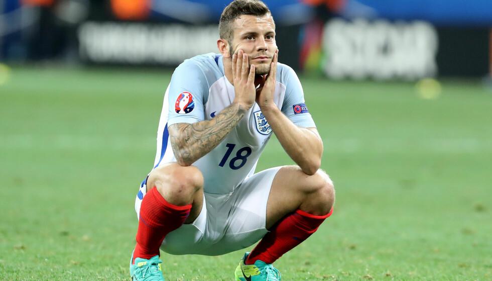 MÅ BLI HJEMME: Jack Wilshere er blant stjernene som må bli hjemme under årets fotball-VM i Russland. Foto: Phil Oldham/Sportimage