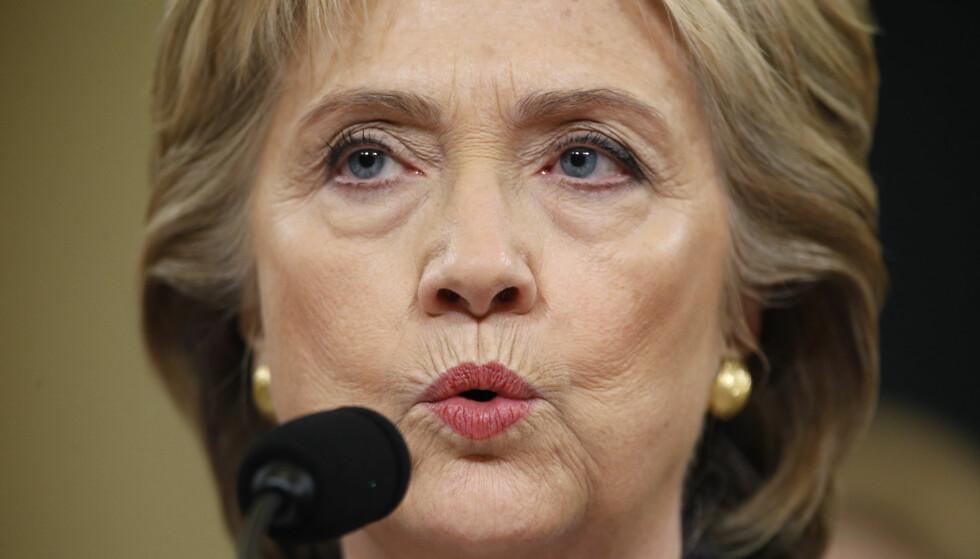 FRIGIS: Dokumenter knyttet til granskingen av epostene fra Hillary Clintons periode som utenriksminister, er offentliggjort av amerikansk etterretning. Foto: Jonathan Ernst/Reuters/NTB Scanpix