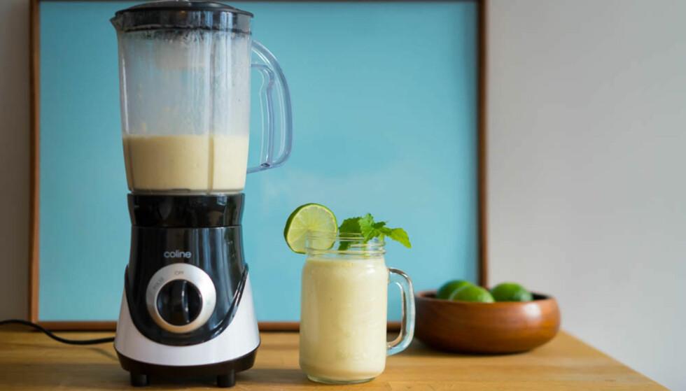 FRISKT: Blenderen lagde smoothie uten problemer. FOTO: Anders Husa