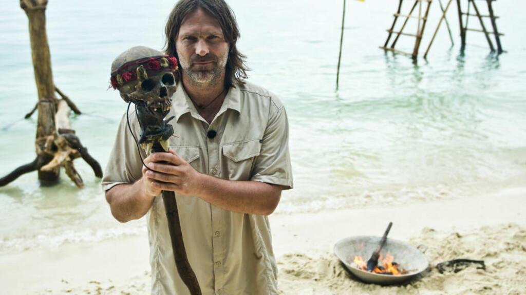 PARADISØY: Programleder Christer Falck er klar med ny runde av «Robinsonekspedisjonen». Foto: TV3.