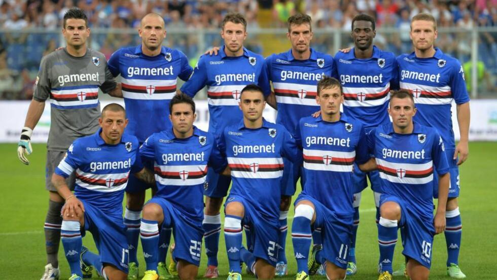 BLE SPIONERT PÅ:  En Genoa-trener spionerte på Sampdorias trening. Foto: AFP Photo /Giuseppe Cacace.