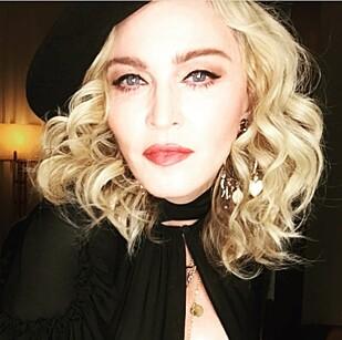 <strong>LANGER UT:</strong> Madonna slik hun framstår i sosiale medier. Foro:XPOSUREPHOTOS.COM