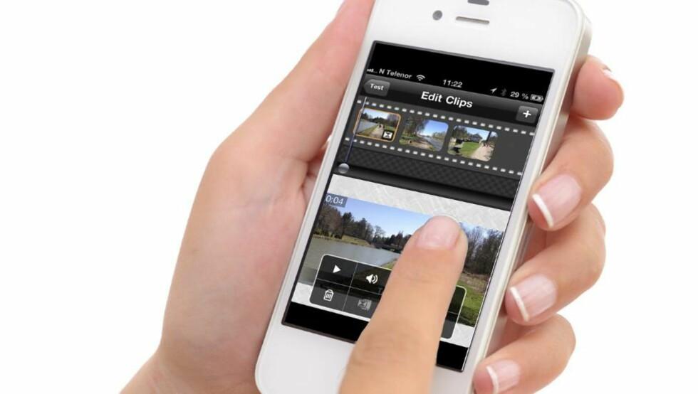 RASKT OG ENKELT: Det er raskt og enkelt å sette sammen filmsnutter på mobilen til en sammenhengende og severdig film. Illustrasjonsfoto: HjemmePC