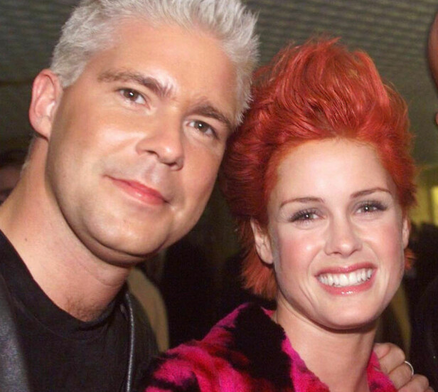 SAMMEN: Aqua-kollegene Lene Nystrøm og Søren Rasted giftet seg i Las Vegas natt til onsdag,  i følge VG Nett. Bildet er fra utdelingen av Hit Awards i Oslo Spektrum i 1999. Foto: Tor Richardsen / SCANPIX