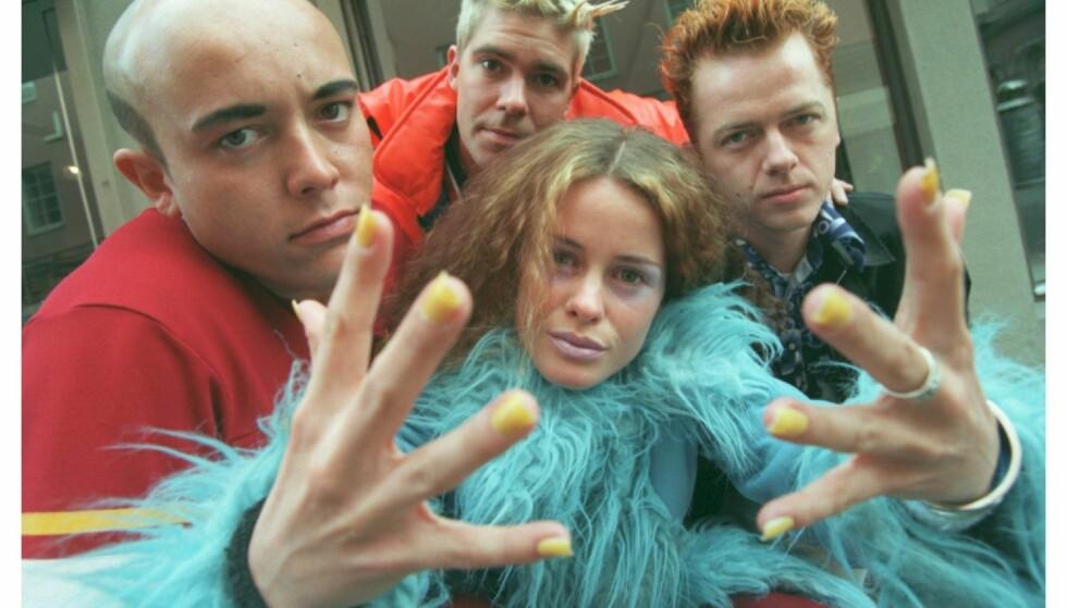 STIL: Norske Lene Grawford Nystrøm utgjør sammen med Rene Dif, Claus Norreen og Søren Rasted utgjør gruppa Aqua.