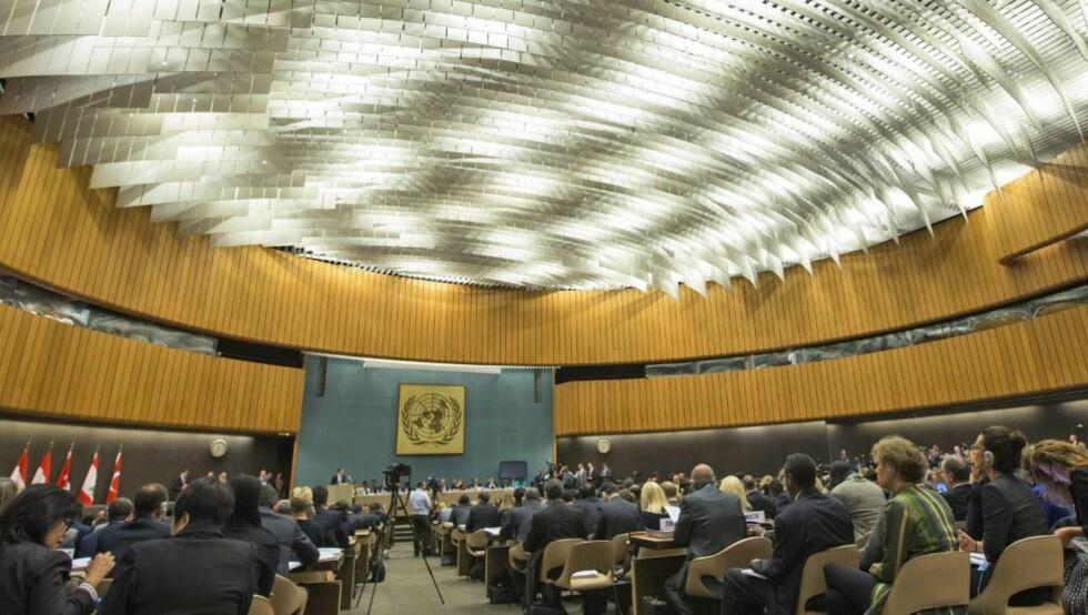SKJEBNEDAG: 15 medlemsland diskuterer Syriakrisen. Foto: SALVATORE DI NOLFI/EPA