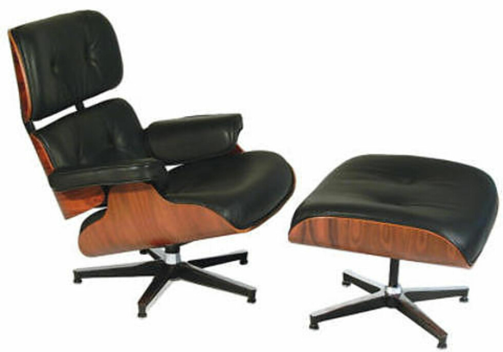 INSPIRASJONEN: Retningen innen møbeldesignet kan ha startet med denne: Eames Lounge Chair fra 1956. Foto: WIKIMEDIA / PUBLIC DOMAIN