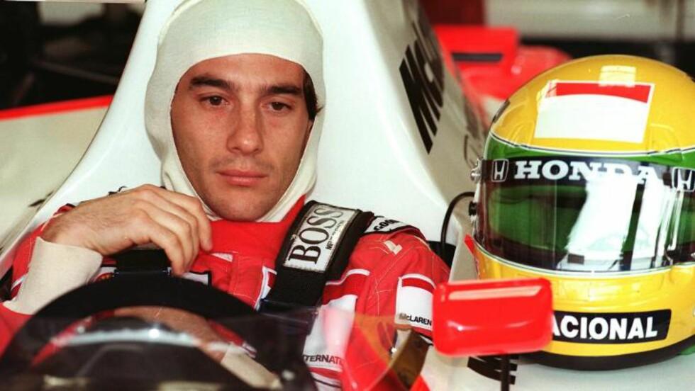 VERDENSMESTER TRE GANGER: Ayrton Senna. Foto: SCANPIX/AFP / ERIC FEFERBERG