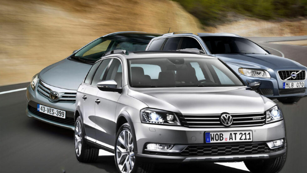 TOPP TRE: Dette er ifølge TNS Gallups undersøkelse de mest populære nybilmerkene i Norge: Merkene med best anseelse i Norge: Volkswagen, Toyota og Volvo.