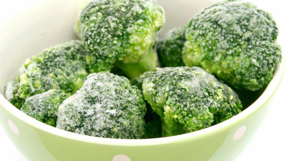 <strong>BROKKOLI:</strong>  Frossen brokkoli hadde et mye høyere nivå av vitamin C, lutein og betakaroten enn det fersk brokkoli har. Foto: sil007 - Fotolia