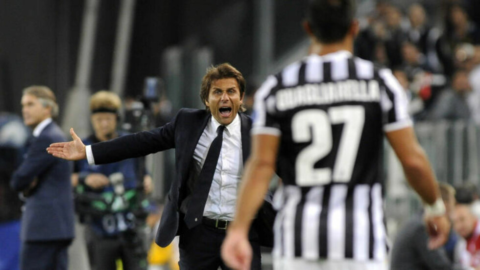 MØTTE KONGSVINGER: Juventus-trener Antonio Conte spilte i klubben i 1993. Foto: REUTERS/Giorgio Perottino