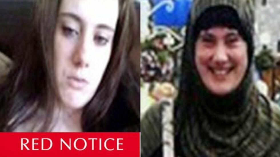 SKREV HYLLEST: Britiske Samantha Lewthwaite skal ha skrevet en hyllest til Osama bin Laden. Foto: EPA/INTERPOL/NTB Scanpix