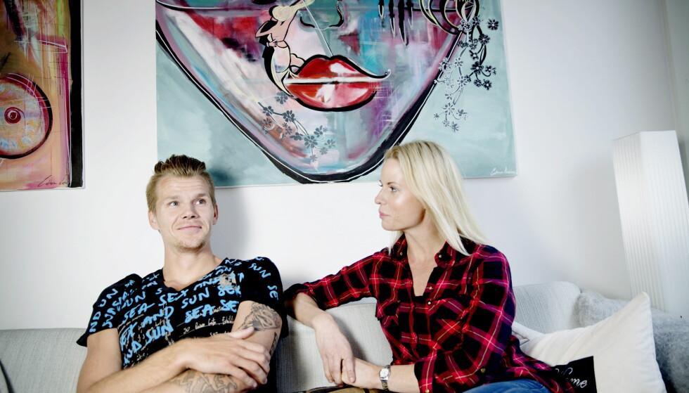 SAMBOERE: Cathrine Larsåsen og samboer Morten Jensen, som er dansk lengehopper. Her fra leiligheten i Sydhavnen, København. Foto: Kristian Ridder-Nielsen / Dagbladet.