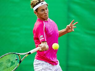 TENNISFEBER: Casper Ruud (17) kan skape norsk tennisfeber om utviklingen fortsetter. Foto: Vegard Wivestad Grøtt / NTB scanpix