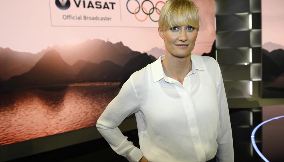 TV-PROFIL: Carolina Klüft er en av Sveriges største friidrettsutøvere gjennom tidene. I sommer ledet hun Viasats OL-sendinger. Foto: Maja Suslin / TT