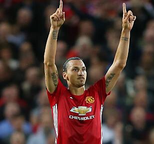 GOD START: Zlatan Ibrahimovic har fått en strålende start på United-karrieren. Foto: Simon Bellis / PA / NTB Scanpix