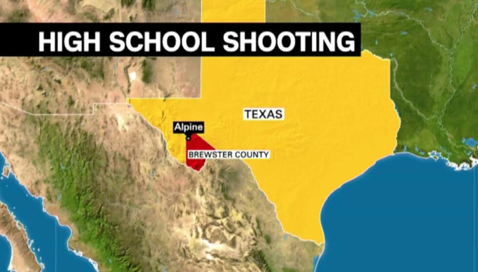 SMÅBY: Alpine er en småby i Brewster County vest i Texas. Grafikk: CNN.