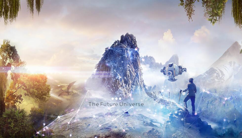 MIXED REALITY: Et norsk selskap vil løfte Matrix-aktig teknologi inn i tv-stuene. Målet er at deltakere i studio og seere i sofaen hjemme kan møtes til dyst i en virtuell spillvirkelighet.  Illustrasjon: The Future Group