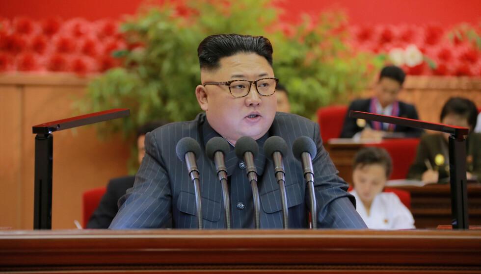PRØVESPRENGNING: Nord-Koreas leder Kim Jong-un. Foto: KCNA / Reuters / NTB scanpix