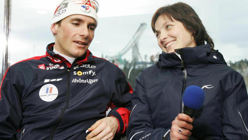 SKISKYTTERPARET:  Liv Grete Skjelbreid og Raphael Poiree møttes i skiskyttersporet, og har vært gift siden 2000. Nå har de tatt ut seperasjon, melder paret.  Foto: Heiko Junge / SCANPIX