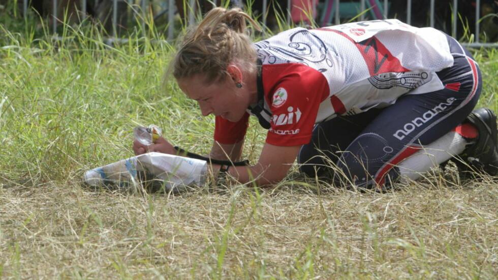 IKKE FORT NOK:  Tone Wigemyr kjempet hele veien, men beina holdt ikke farten til VM-medalje i den finske furuskogen. Foto: Jens O. Kløvrud/Dagbladet