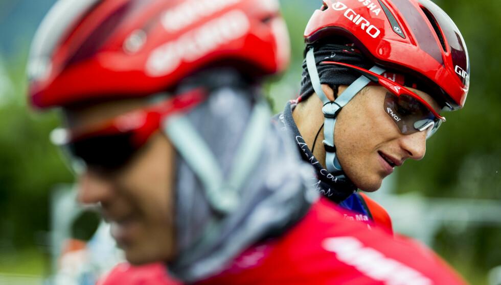 LAGKOMPISER: Sven Erik Bystrøm og Alexander Kristoff (t.h.) sykler begge for Katusha. Foto: Vegard Wivestad Grøtt / NTB scanpix