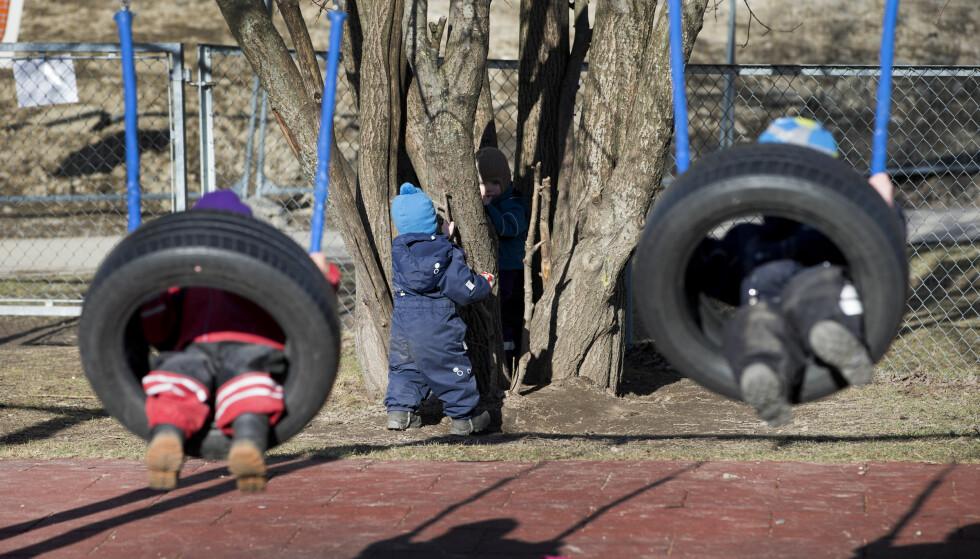 KJØNN SKAPES: Mener psykologene i dette innlegget. Her barnehagebarn. Foto: Gorm Kallestad / NTB scanpix